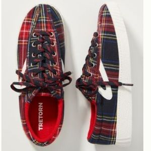 Tretorn Plaid Low Top Sneaker Shoes Women's 7